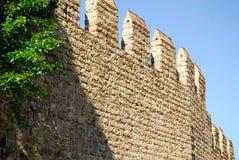 Allungamento dei mura di cinta antichi nella città di Monselice nella provincia di Padova nel Veneto (Italia) Immagine Stock Libera da Diritti