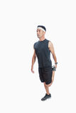 Allungamento dei muscoli della gamba Immagine Stock Libera da Diritti