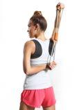 Allungamento dei muscoli dorsali Fotografie Stock Libere da Diritti