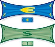 Allungamento dei soldi Immagini Stock