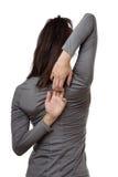 Allungamento dei suoi muscoli Fotografia Stock Libera da Diritti
