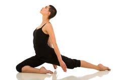 Allungamento del ballerino di balletto Fotografie Stock