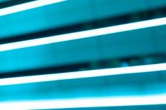 Allungamento del turchese delle linee del LED Luce notturna Fotografia Stock