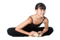 Allungamento della ballerina Immagine Stock Libera da Diritti