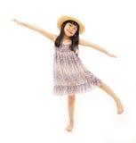 Allungamento della bambina Fotografia Stock
