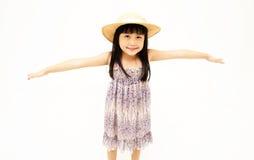 Allungamento della bambina Fotografie Stock