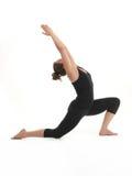 Allungamento della dimostrazione di posa di yoga Immagini Stock