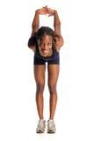 Allungamento della donna dell'afroamericano Fotografia Stock Libera da Diritti