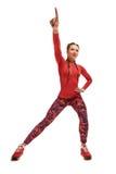 Allungamento della donna di esercizi Immagine Stock Libera da Diritti