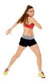 Allungamento della donna di forma fisica Fotografia Stock Libera da Diritti