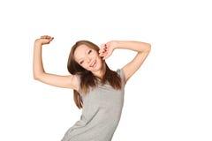 Allungamento della donna giovane Fotografia Stock