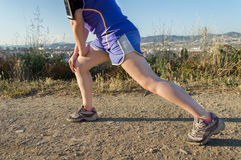 Allungamento della gamba Fotografie Stock