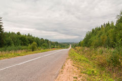 Allungamento della lunga strada Fotografia Stock