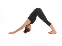 Allungamento della posizione di yoga Fotografie Stock Libere da Diritti