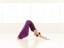 Allungamento della posizione di yoga Fotografie Stock