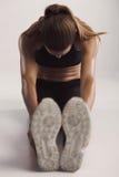 Allungamento delle mie gambe Fotografia Stock