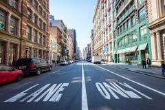 Allungamento di Broadway in SOHO in New York Fotografie Stock Libere da Diritti