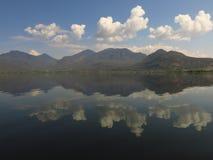 Allungamento di ša del ¼ di Lashi Lakeï delle zone umide del plateau Fotografie Stock Libere da Diritti
