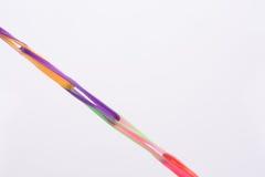 Allungamento di gomma di Hairclips Fotografia Stock