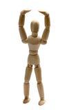 Allungamento di legno della bambola Fotografia Stock Libera da Diritti