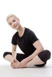 Allungamento di tutti i vostri muscoli Immagine Stock