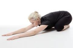 Allungamento di tutti i vostri muscoli Fotografia Stock Libera da Diritti