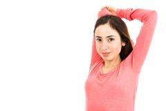 Allungamento le braccia e delle spalle Fotografia Stock Libera da Diritti