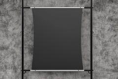 Allungamento nero della tela sul tubo del metallo Fotografia Stock Libera da Diritti