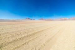 Allungamento sabbioso del deserto sulle Ande boliviane Immagine Stock Libera da Diritti