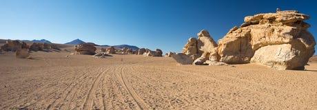 Allungamento sabbioso del deserto sulle Ande boliviane Fotografie Stock