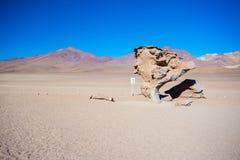 Allungamento sabbioso del deserto sulle Ande boliviane Immagini Stock