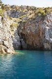 Allungamento soleggiato della costa Fotografie Stock Libere da Diritti