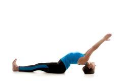 Allungamento sportivo della ragazza di yoga Fotografia Stock Libera da Diritti
