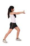 Allungamento sportivo della ragazza isolato Fotografie Stock Libere da Diritti