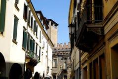 Allungamento via di del Santo a Padova nel Veneto (Italia) Fotografia Stock