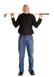 Allungando per il golf Fotografia Stock