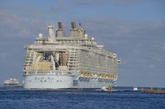 Allure of the Seas cruise ship royalty free stock photography