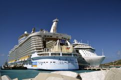 Allure of the Seas cruise ship Royalty Free Stock Photo