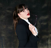 Alluring бизнес-леди стоковое фото