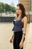 Alluring молодая кавказская женщина стоковое фото