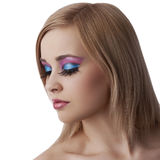 Alluring beauty portrait with make up Stock Images
