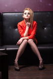 Alluring blond in the club Royalty Free Stock Image