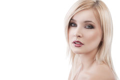 Alluring blond lady Royalty Free Stock Image