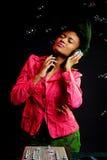 Alluring dj listening music. Alluring and dj listening music stock photography