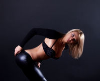 Alluring and fashion dancer Stock Image