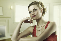 The alluring fashion woman Stock Images