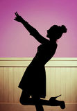 Alluring girl in the dancing pose Stock Image