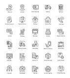Alluring Shopping And Commerce Icons royalty free illustration