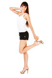 Alluring slim young woman Royalty Free Stock Photos