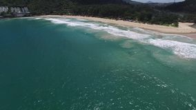 Alluring Thailand coast and palm trees, from a drone. Charming landscape, palm trees, from a helicopter stock video